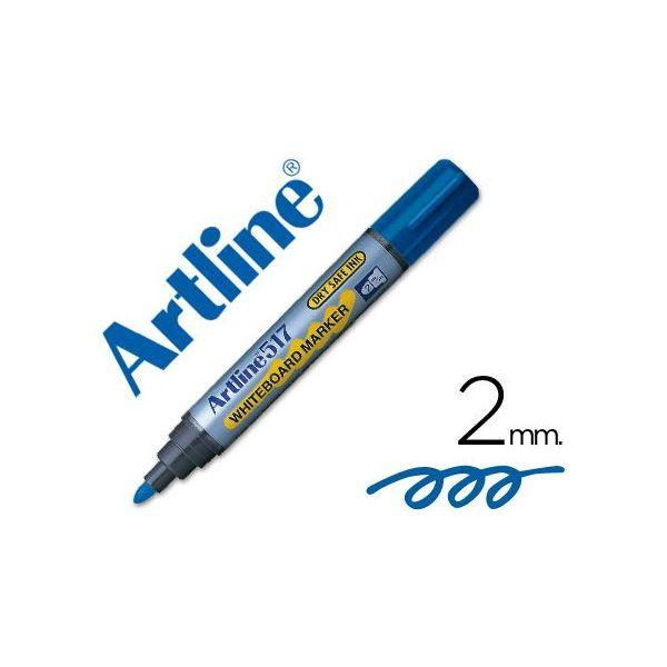/Juego de 3/rotuladores pizarra blanca borrable punta redonda 2,5/mm azul A Plus/