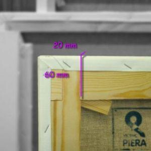 Bastidores españoles 60x22 mm con tela lino medio