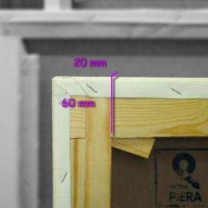 Bastidores españoles 60x22 mm con tela algodón 36