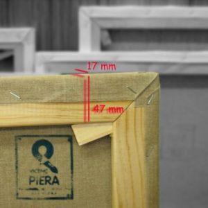 Bastidores Europa 47x17 mm tela lino con preparación transparente
