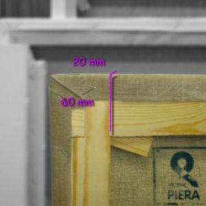 Bastidores españoles 60x22 mm tela lino con cola