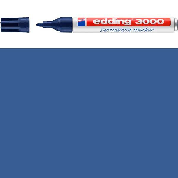Marcador permanente Edding 3000 Rojo rellenable punta redonda aluminio de mango