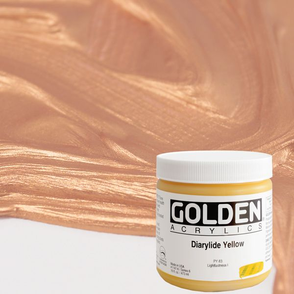 GOLDEN ACRÍLICS HEAVY BODY 473 ml.